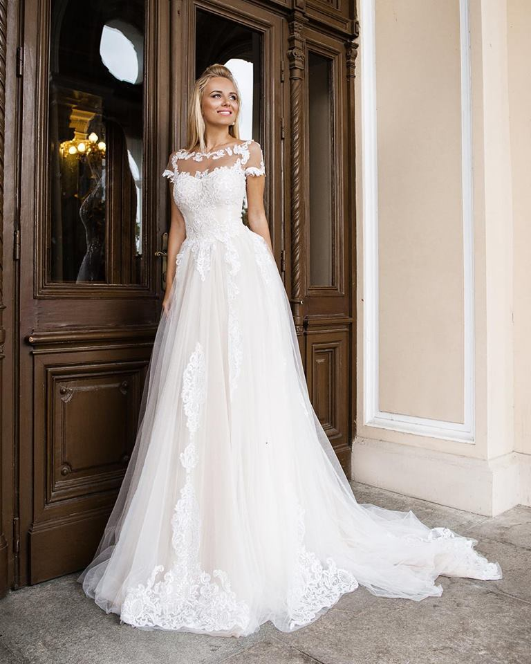 Exclusive Lace Bodice Wedding Gown