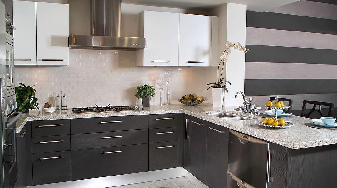 Fabulous European Style Cabinets, Quartz Counter Tops, And Subway Tile Backsplash