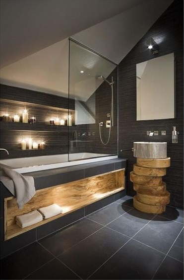 Fabulous Modern Bathroom With Rustic Decor Spices