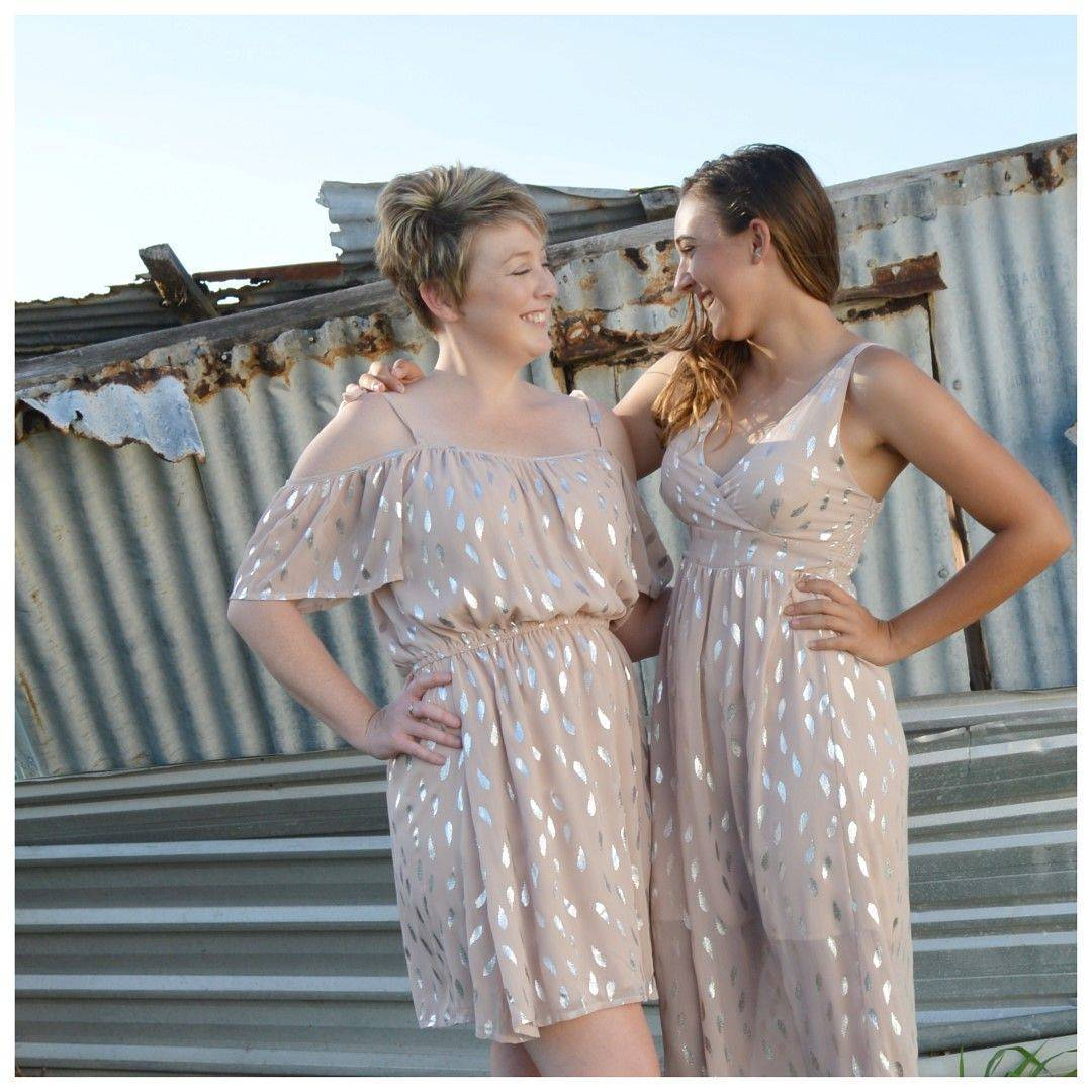 Foil Print Short Summer Party Dress