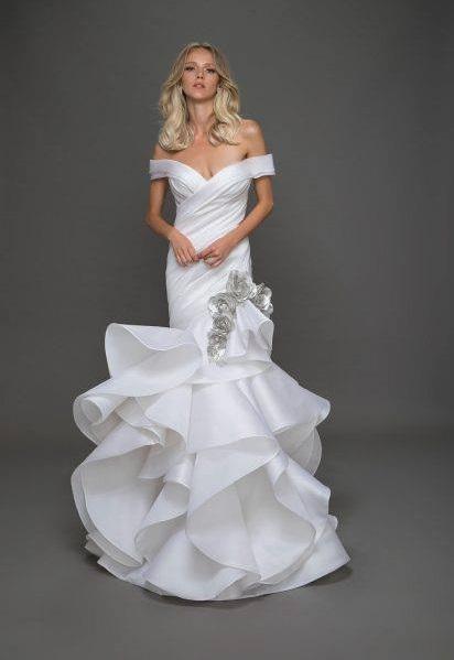 Glamorous Off The Shoulder Stylish Wedding Dress