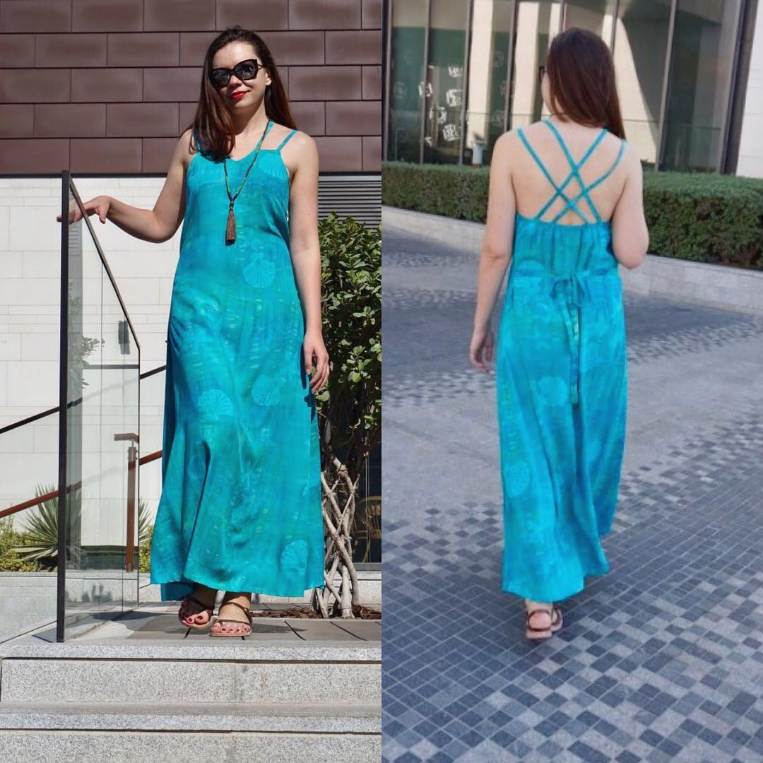 Glimpse Of This Backless Maxi Dress