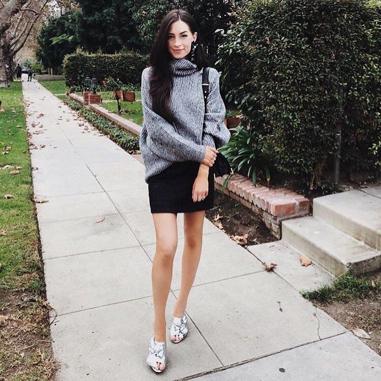 Gorgeous Retro Style Sweater With Mini Skirt