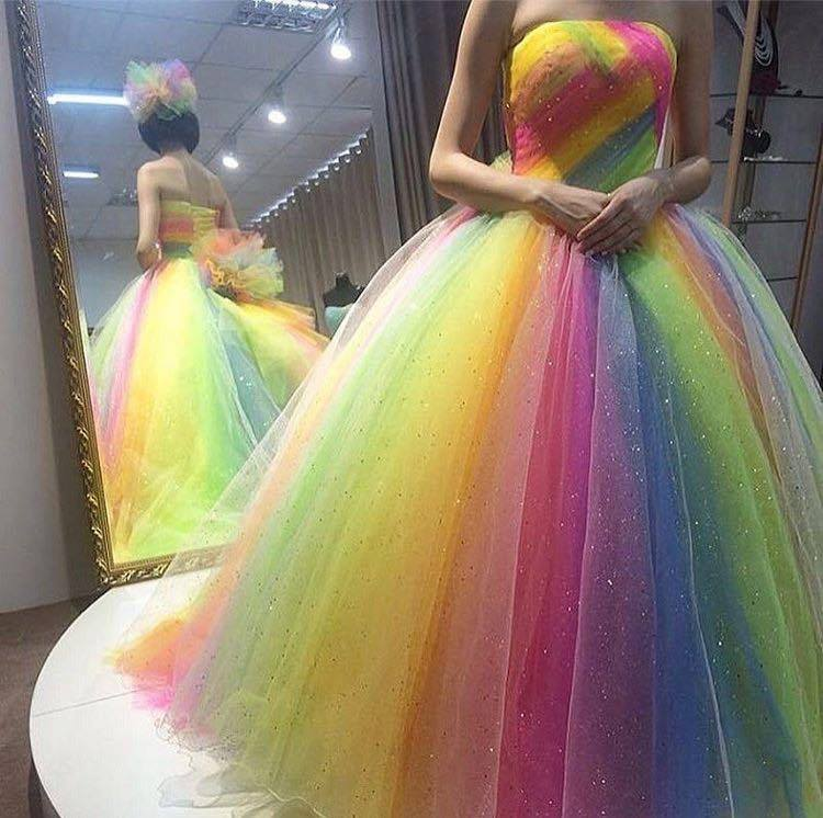 Marvelous Rainbow Wedding Gown Will Adore You