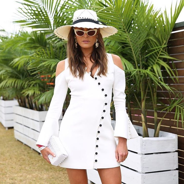 Mind-Blowing White Dress With Hat For Summer Day Out