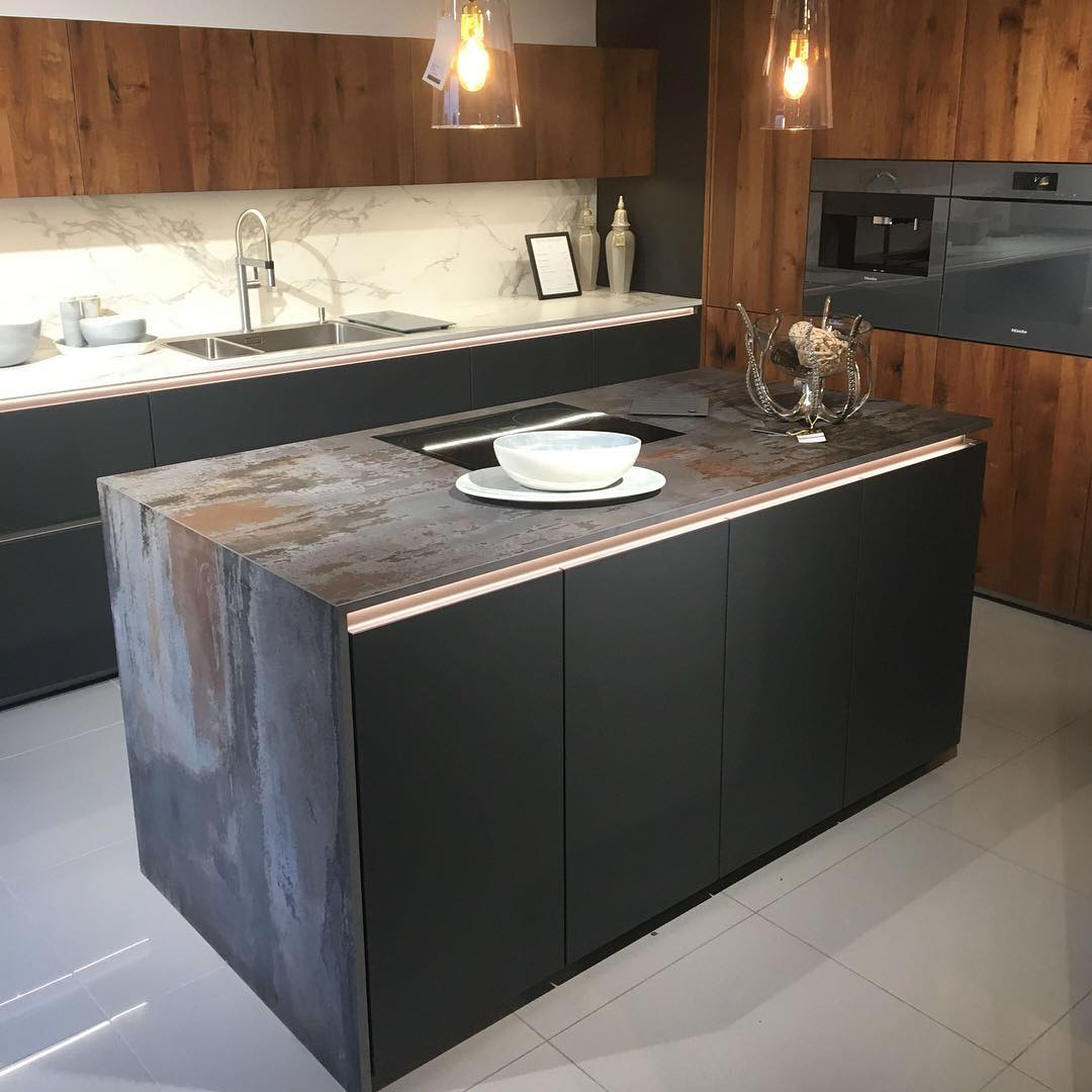 Minimize Contemporary Kitchen With Combination Of Nice Texture