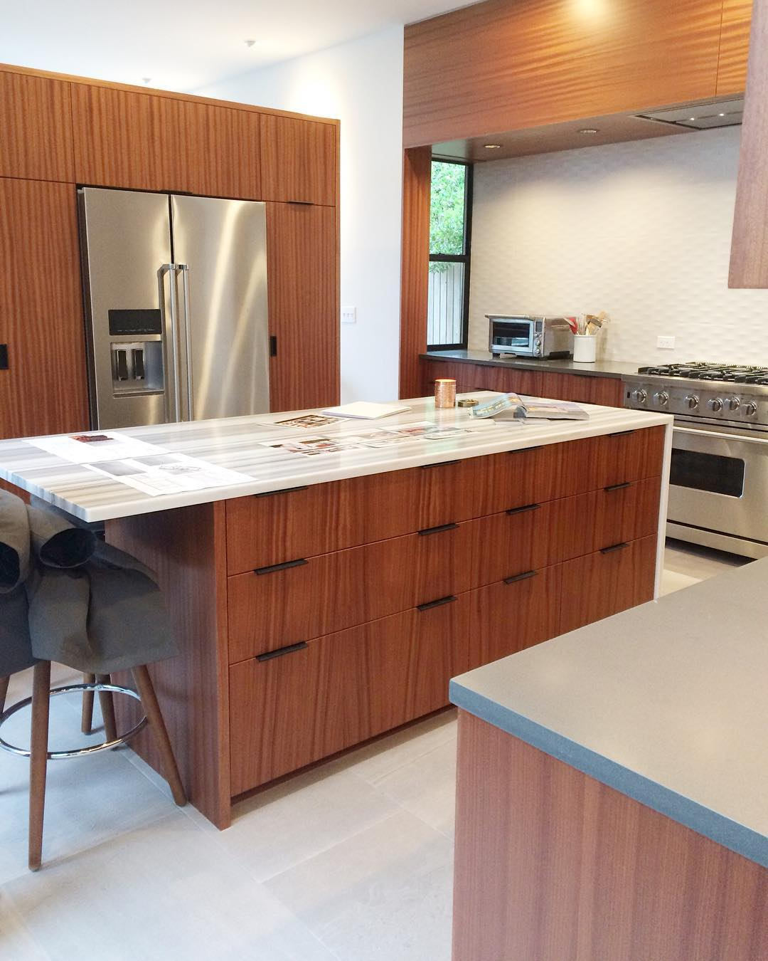 Modern Kitchen With Wooden Cabinets