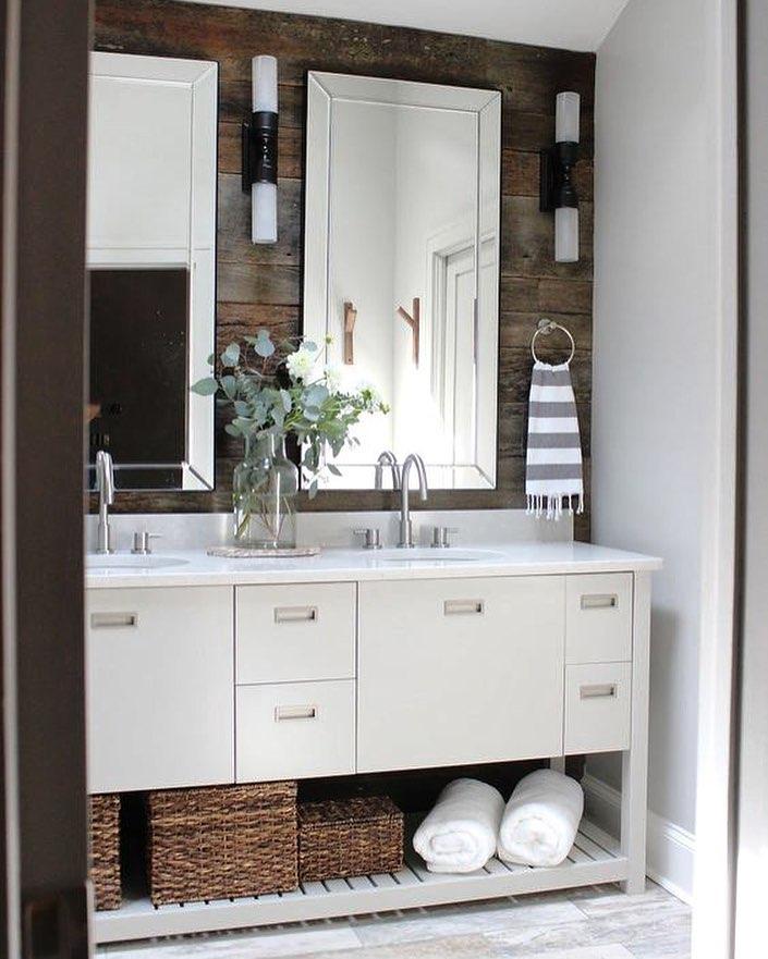 Modish Bathroom With Barebones Cabins
