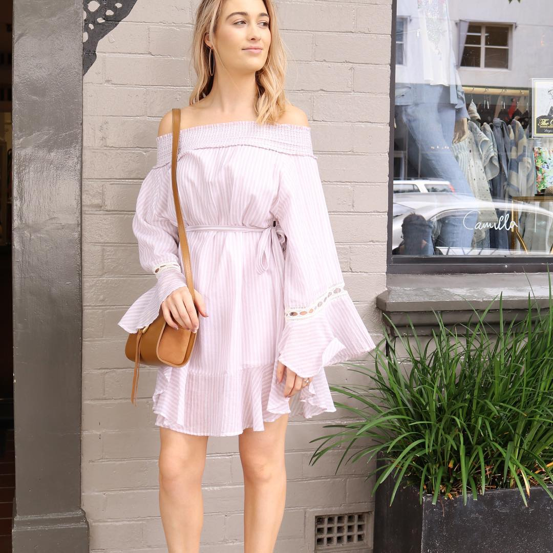 Off The Shoulder Dress Perfect For Summers