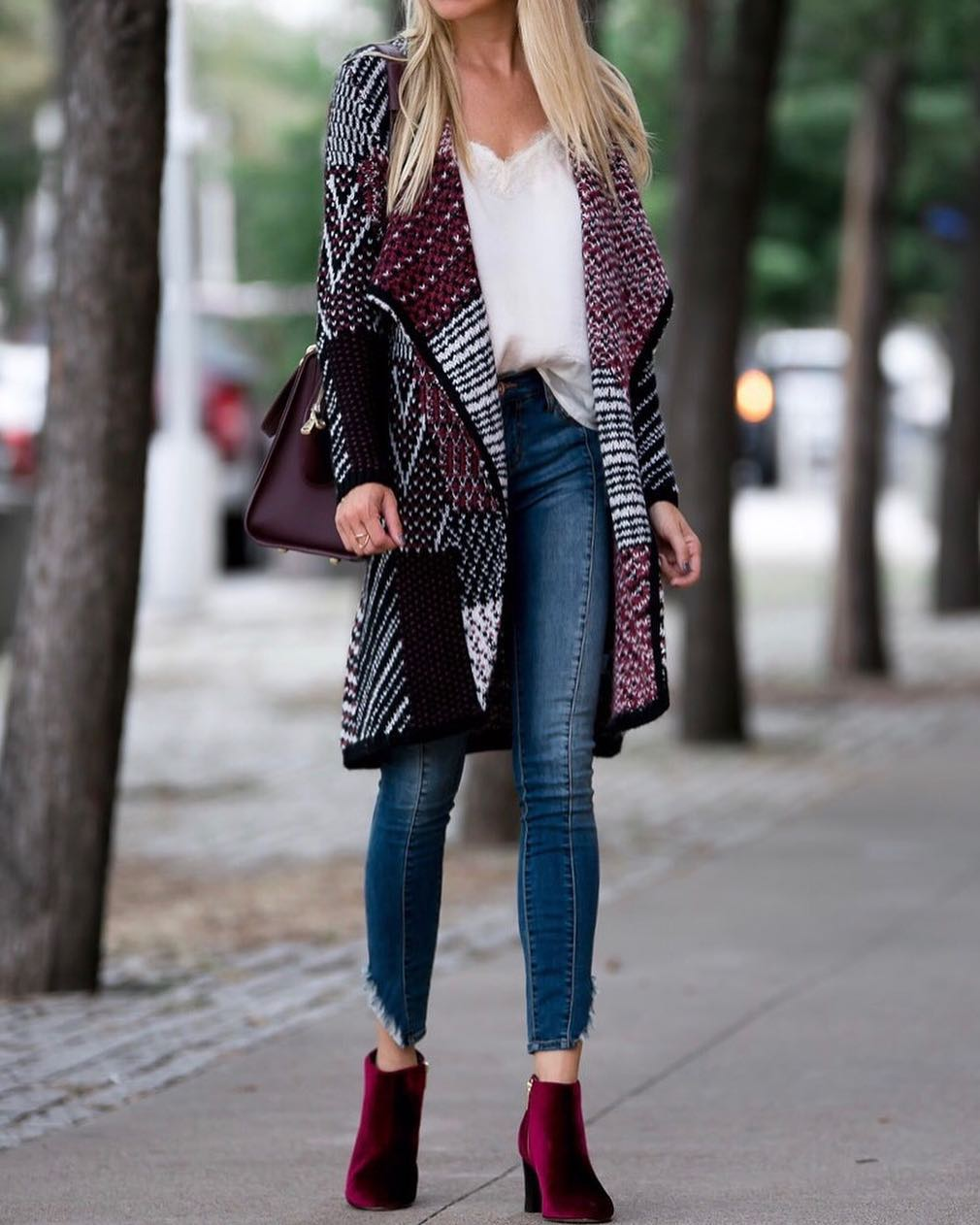 Perfect Fall Outfit With Velvet Booties