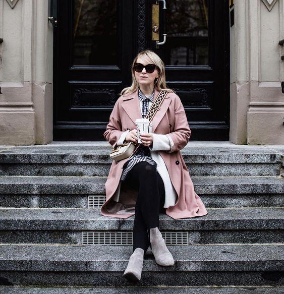 Pink Coat Looks Fabulous In Fall