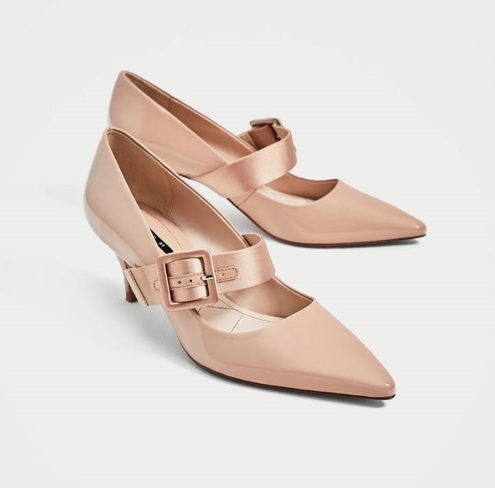 Rose Gold High Heel Court Shoes