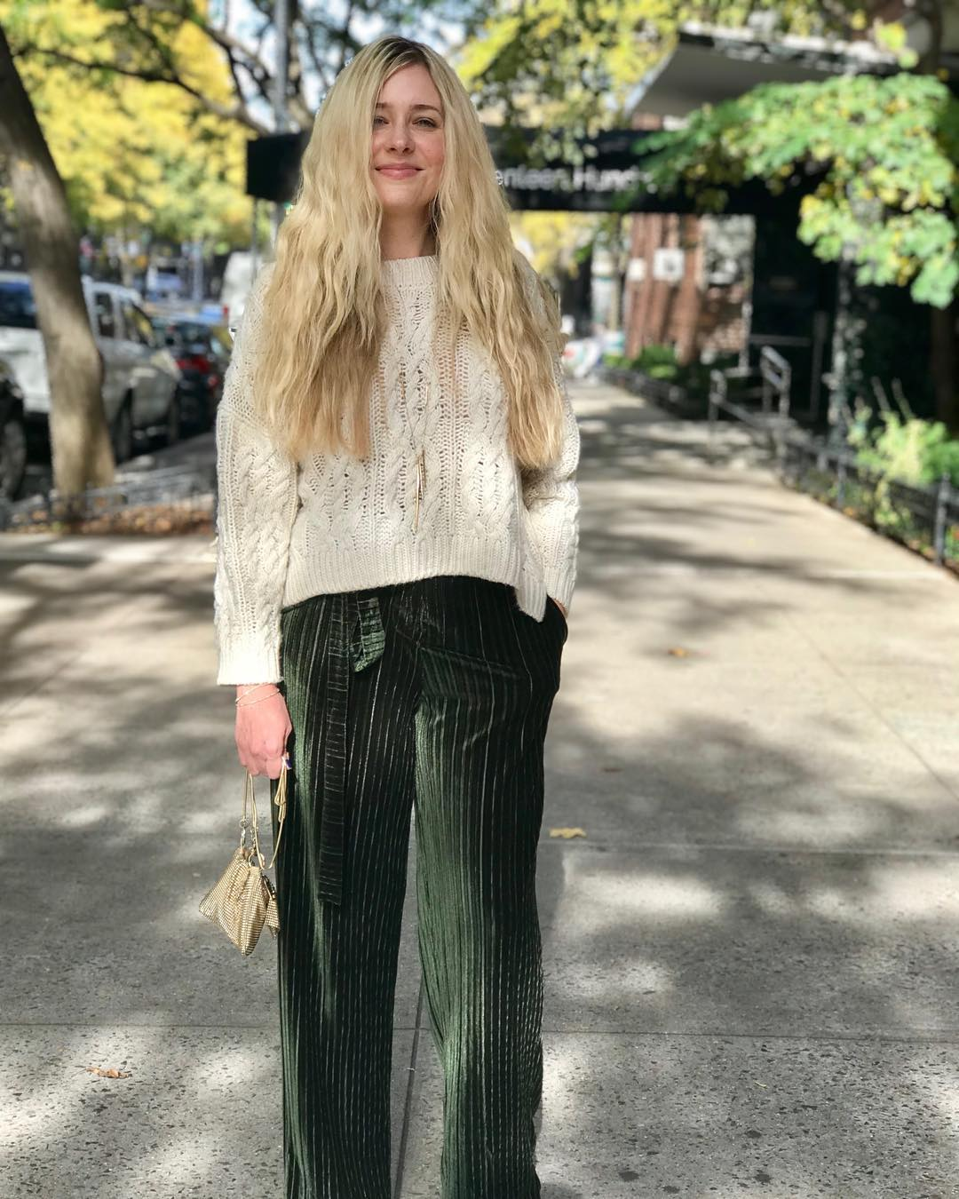 Short Sweater With Loose Velvet Pant