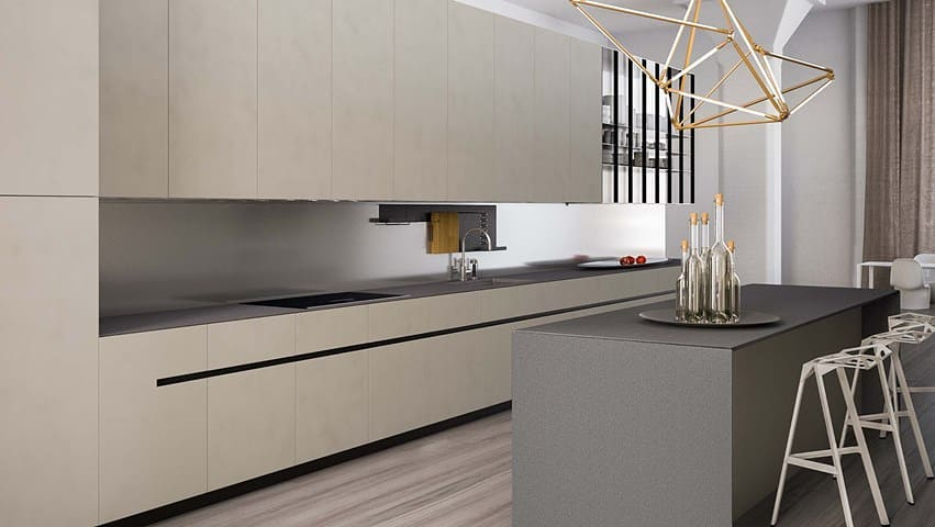 Sophisticated Palette Industrial Style Kitchen Design