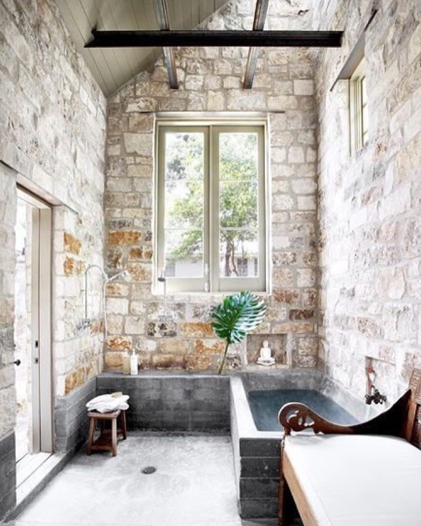 Stone Wall With Brick Tub