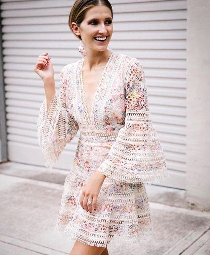 Tassel Bell Sleeved Dress In Summer