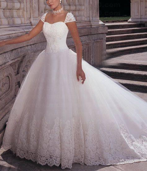 Traditional Stylish Beautiful Fabric Wedding Dress