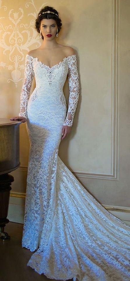 Trendy Full Sleeves Wedding Dress