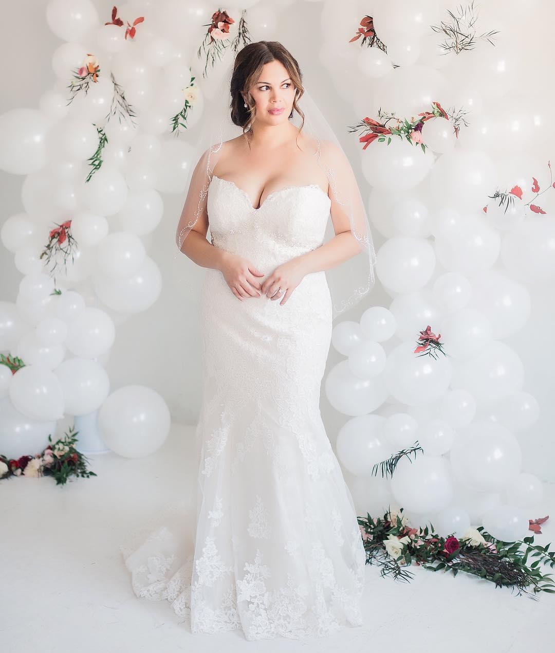 Ultimate Flower Embedded Wedding Dress