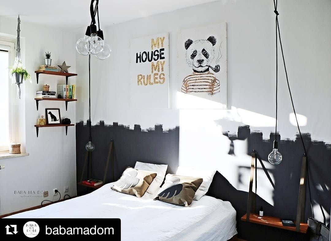 #48 Unusual Industrial Style Bedroom With Paintings Via