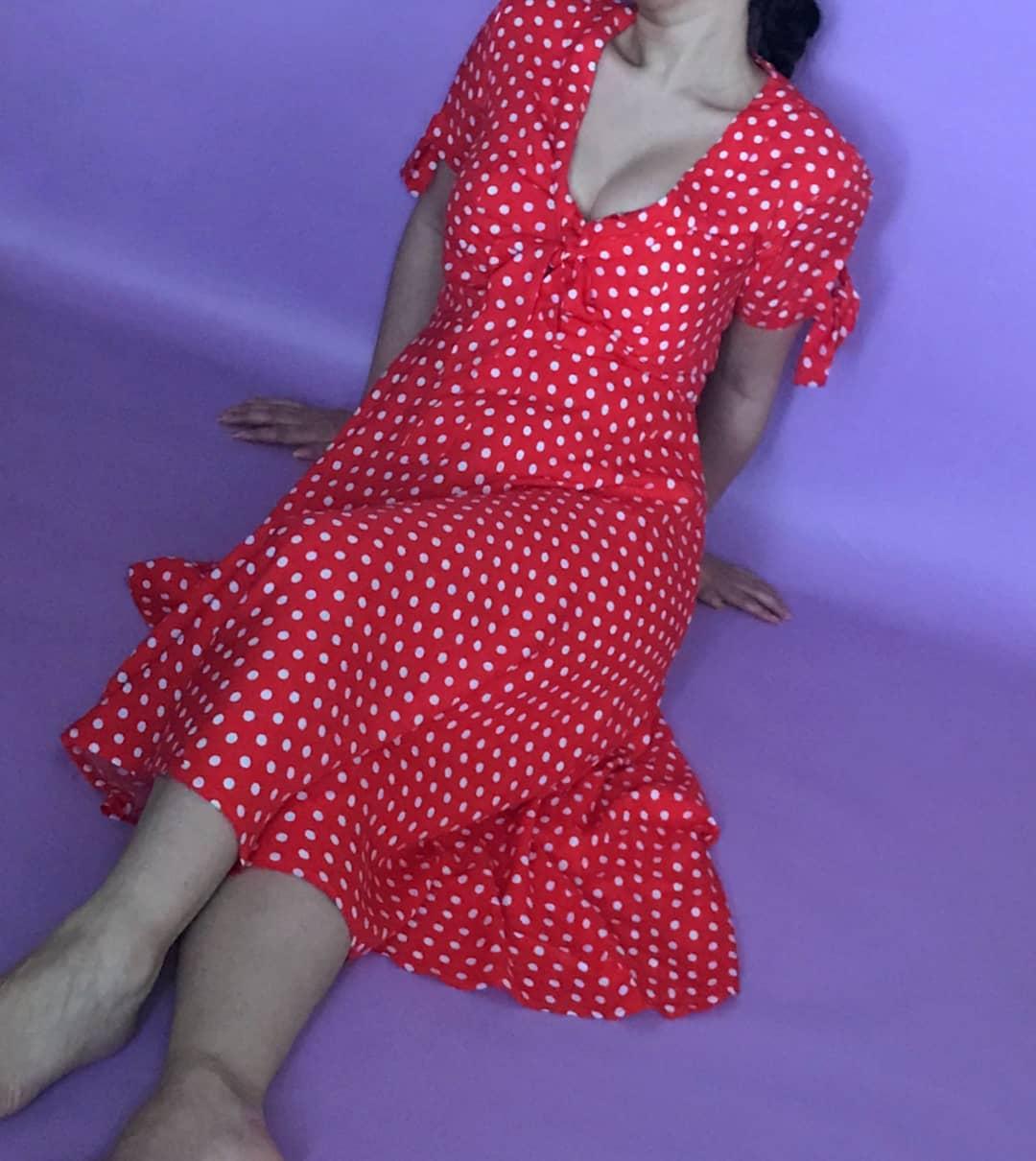 Vintage Style Polka Dots Dress