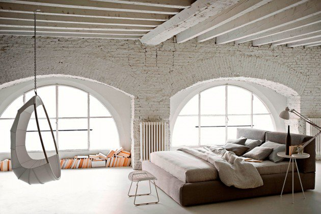 White Industrial Bedroom Design