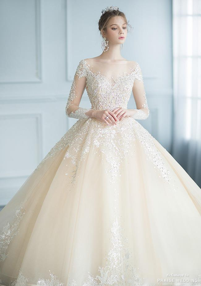 Wonderful Designer Wedding Gown With Featuring Sparkly Jewel Embellishment
