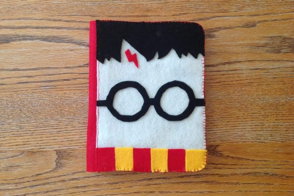 Adorable Harry Potter Notebook Decorated in Funky Way