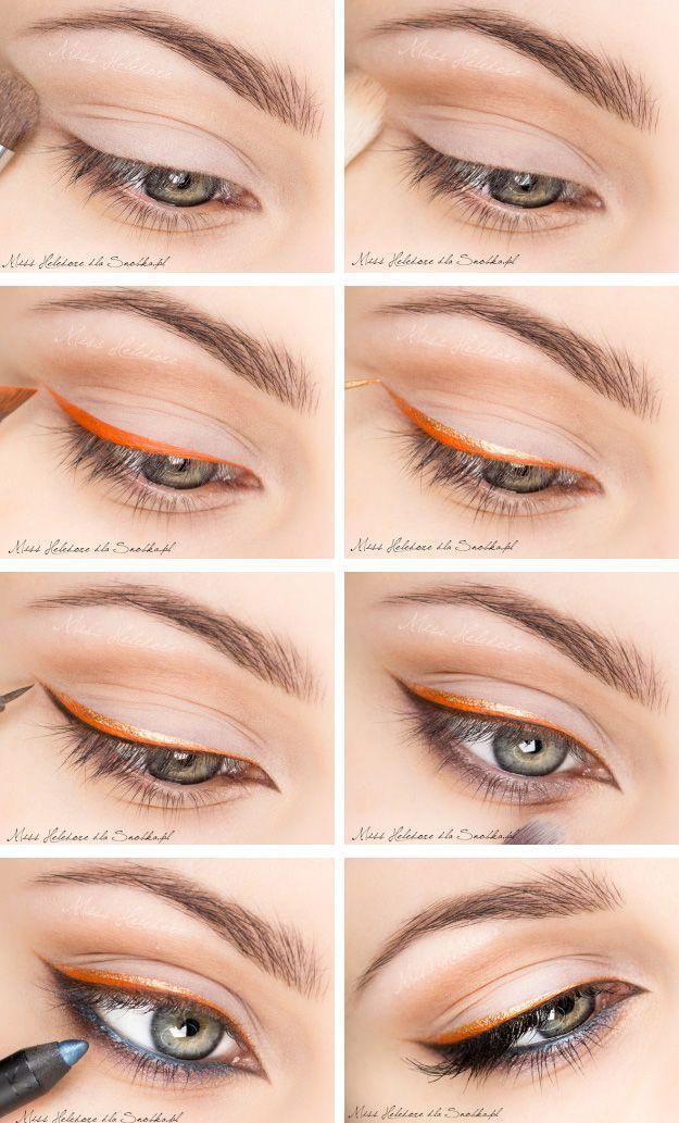 Adorable Orange Eye Linear Tutorial