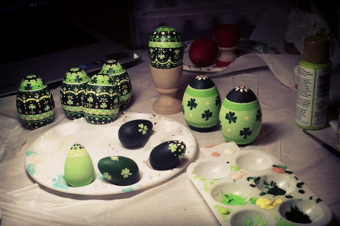 Appealing Hand Painted Eggs For Easter