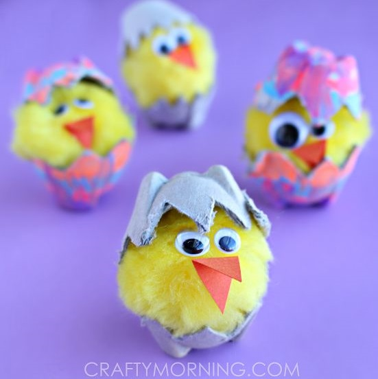 Attractive Egg Carton Hatching Chicks For Easter