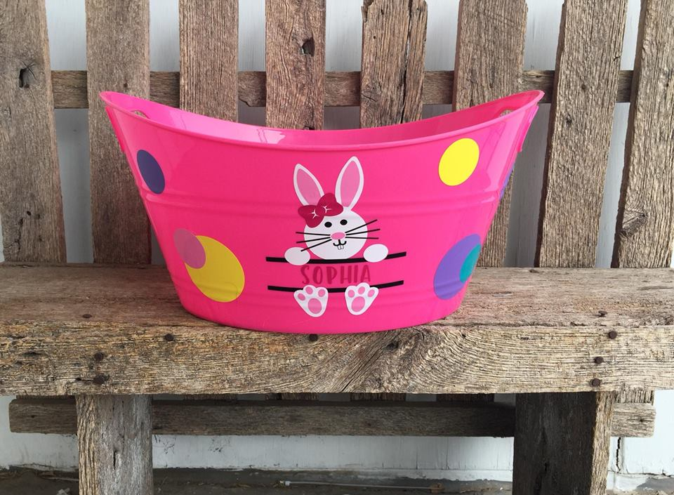 Awesome Bright Pink Easter Basket