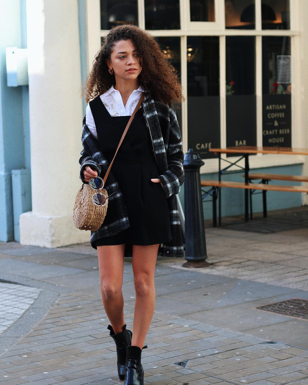 Awesome Playsuit, Blouse, Jacket And Basket Bag