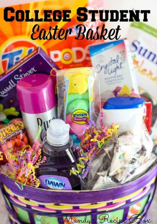 Basket For College Student At This Easter
