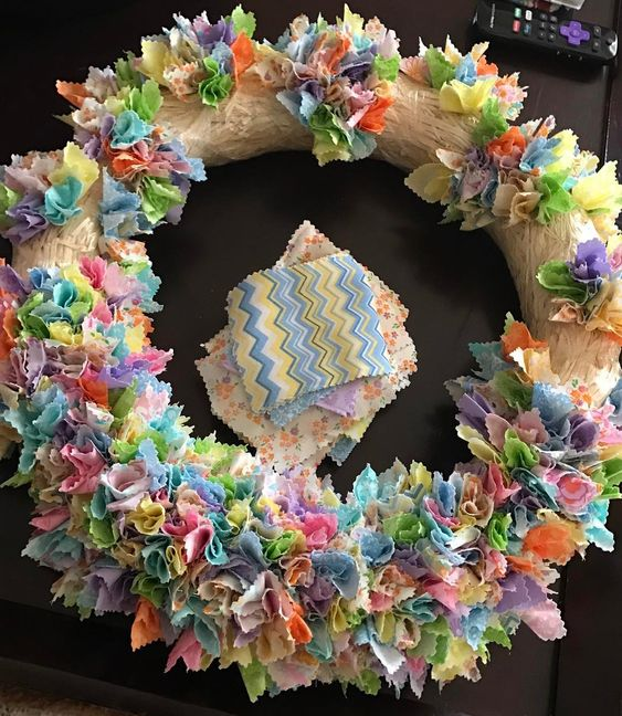 Beautiful Paper Craft Wreath For Easter