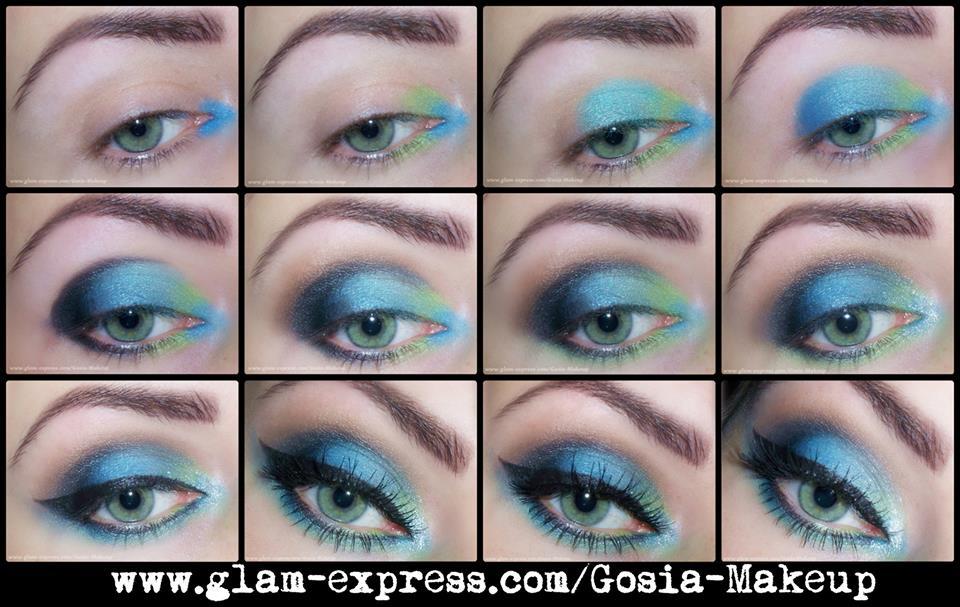 Blue Skies Summer Eye Makeup Idea