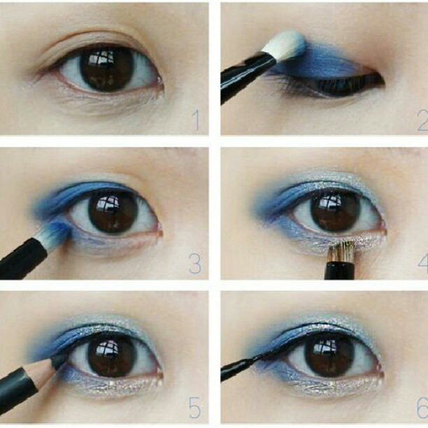 Blue With Yellow Eye Makeup Step By Step