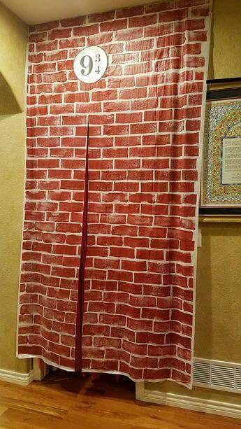 Brick Harry Potter 9 3 By 4 Sign Curtain For Kids Room