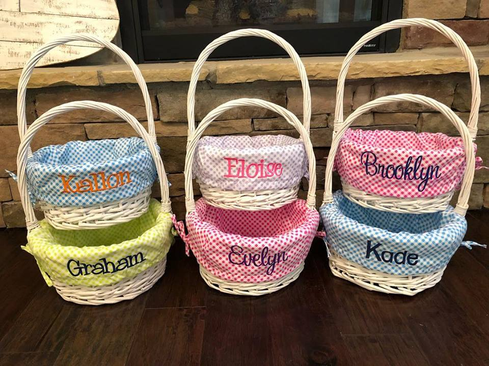 Canes Weaved Into A Basket For Easter Gifts