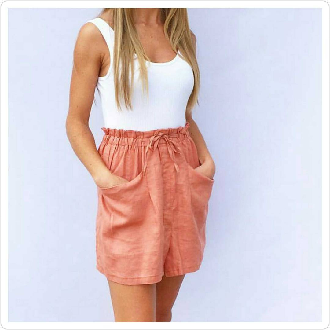 Casual Shorts With Pocket And Cami Top Perfect For Daily Wear