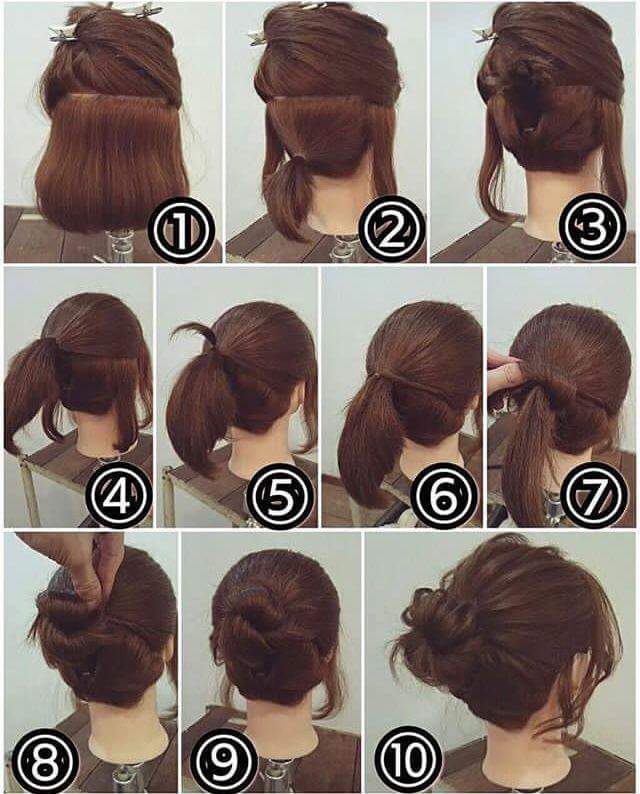 Cute Braided Bun Hairstyle Tutorial recommendations