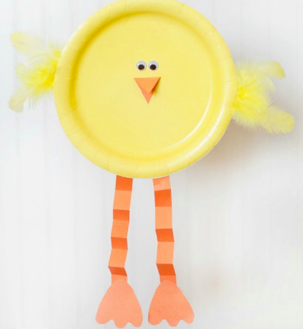 Chicks By Paper Plate For Easter