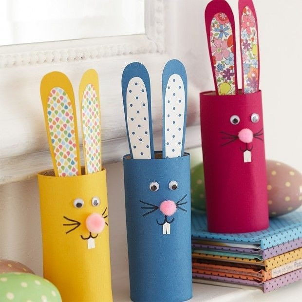 Colorful Paper Bunny For Table Decor