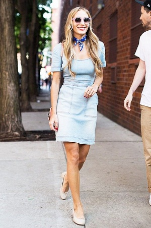 Cool Denim Two-Piece Spring Outfit For Work