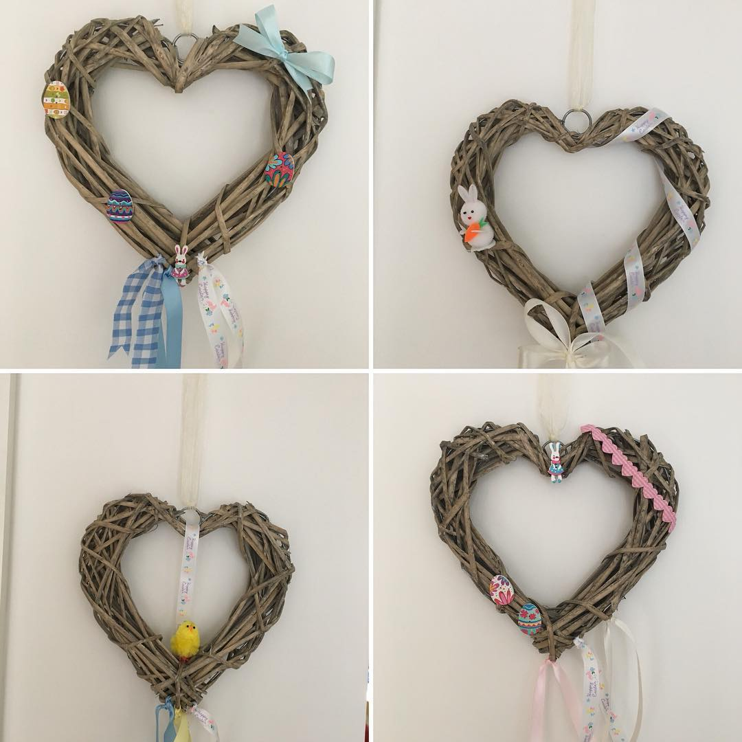 Cool Heart Shaped Wreath To Get Awe This Easter