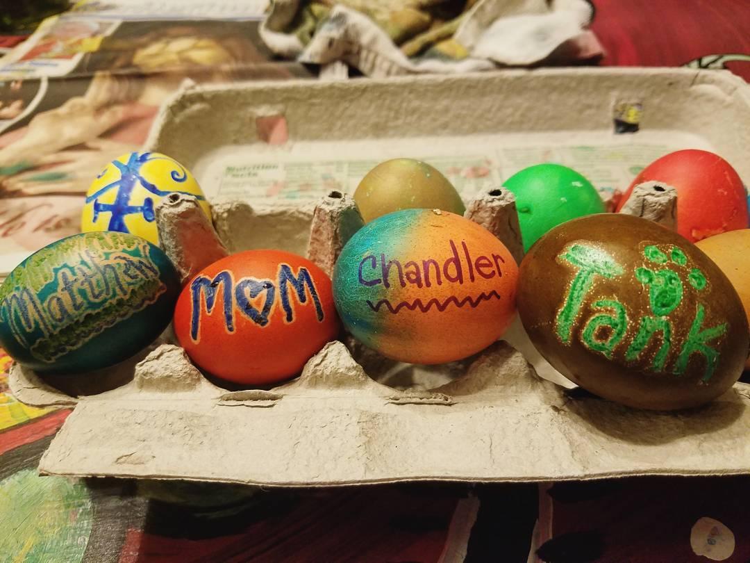 Cool Holiday Colorful Egg Decor