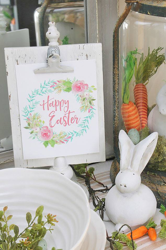 Cool Printable Card With Bunny And Carrot For Easter Home Decoration