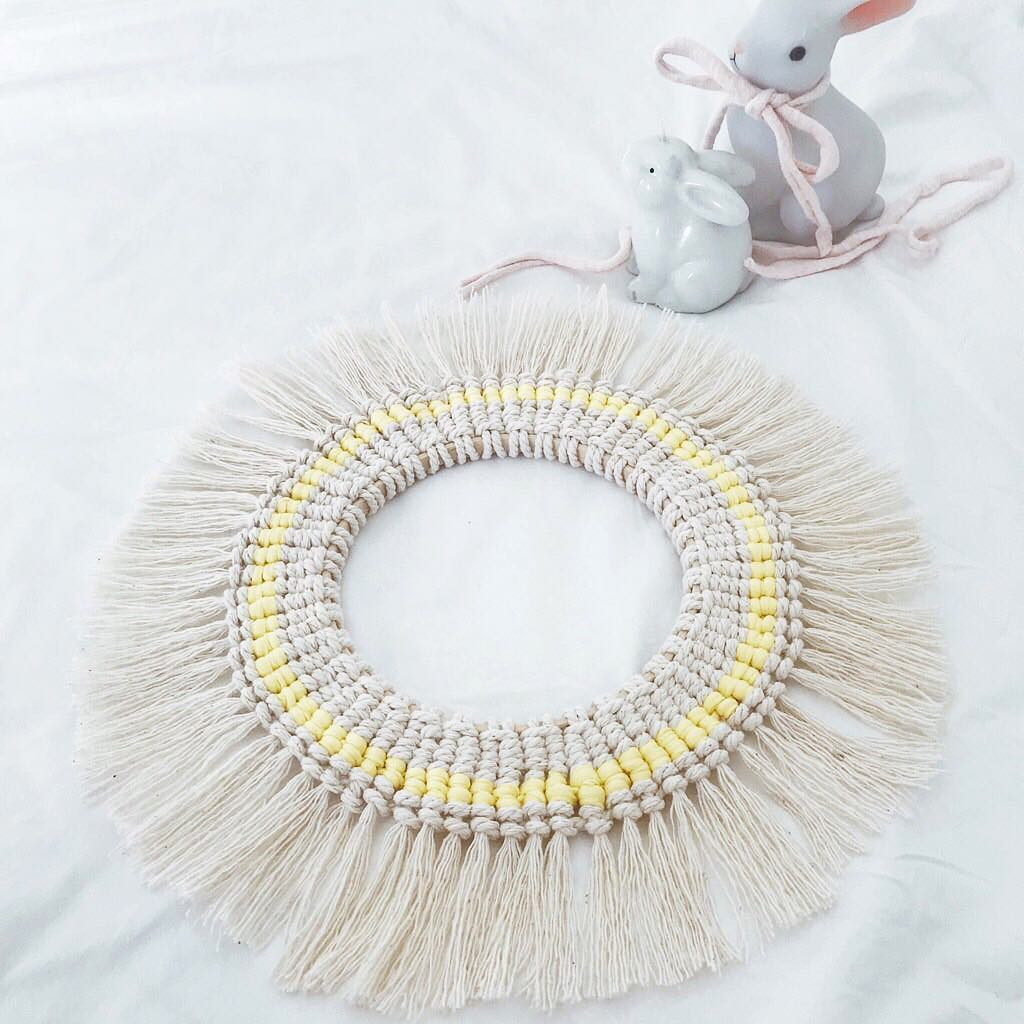 Cotton Rope Easter Wreath