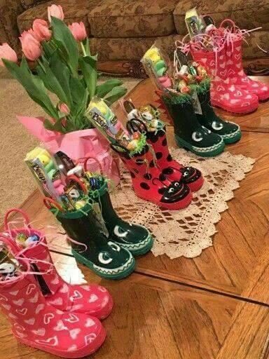 Creative Rain Boot Easter Basket