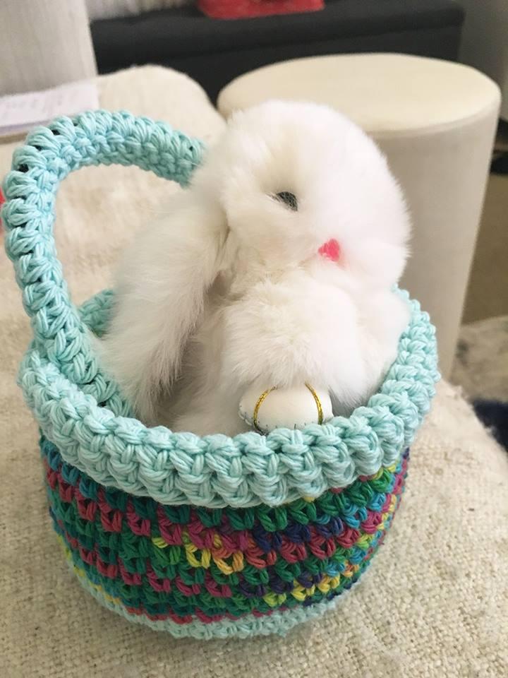 Crochet Homemade Basket For Easter Celebration